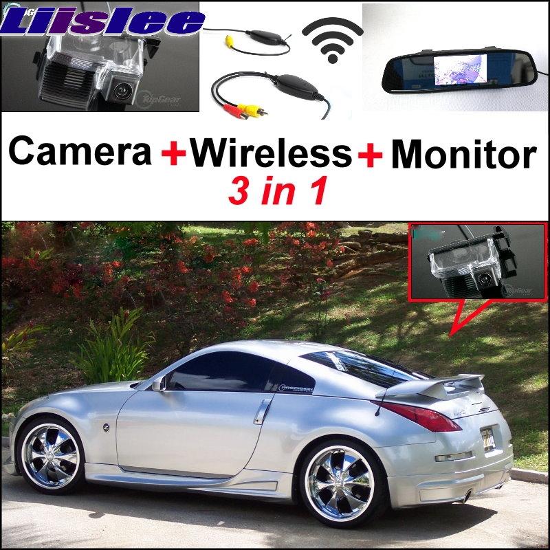 Фотография Liislee Special Rear View Camera + Wireless Receiver Mirror Monitor Backup Parking System For Nissan Sentra 350Z 370Z Fairlady Z