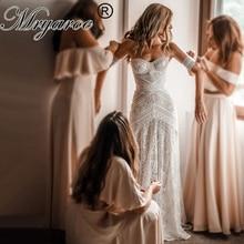 Mryarce 2019 럭셔리 독점 레이스 인어 웨딩 드레스 Strapless Love Spell Boho Wedding Chic Bridal Gowns