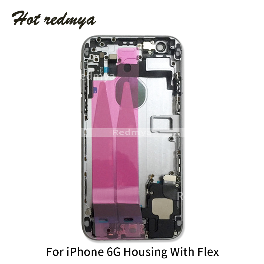 Image 5 - Full Housing For iphone 6G 6S 6S Plus Back Middle Frame Chassis Full Housing Assembly Battery Cover Door Rear With Flex Cable-in Mobile Phone Housings & Frames from Cellphones & Telecommunications