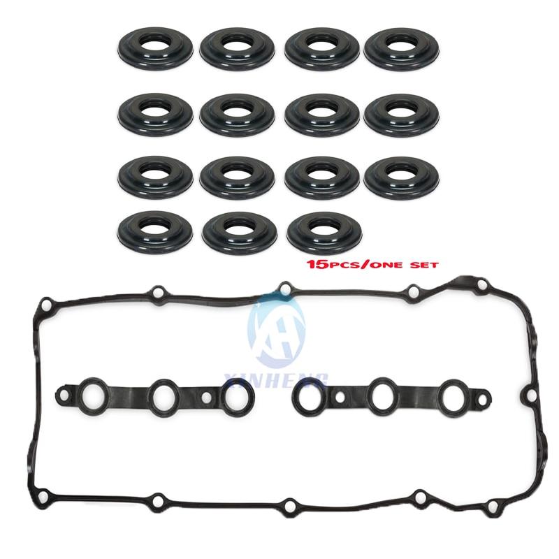15 Valve Cover Nut Rubber Grommet Bolt Seal Ring for BMW 3 5 Series x3 x5 z3 z4