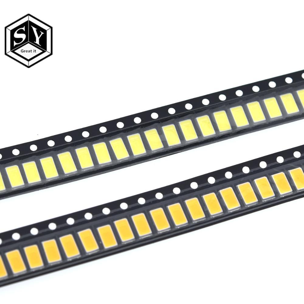 2x LED RGB 5050 PLCC6 SMD 120deg 500-1560mcd White Diffused Light Emitting Diode