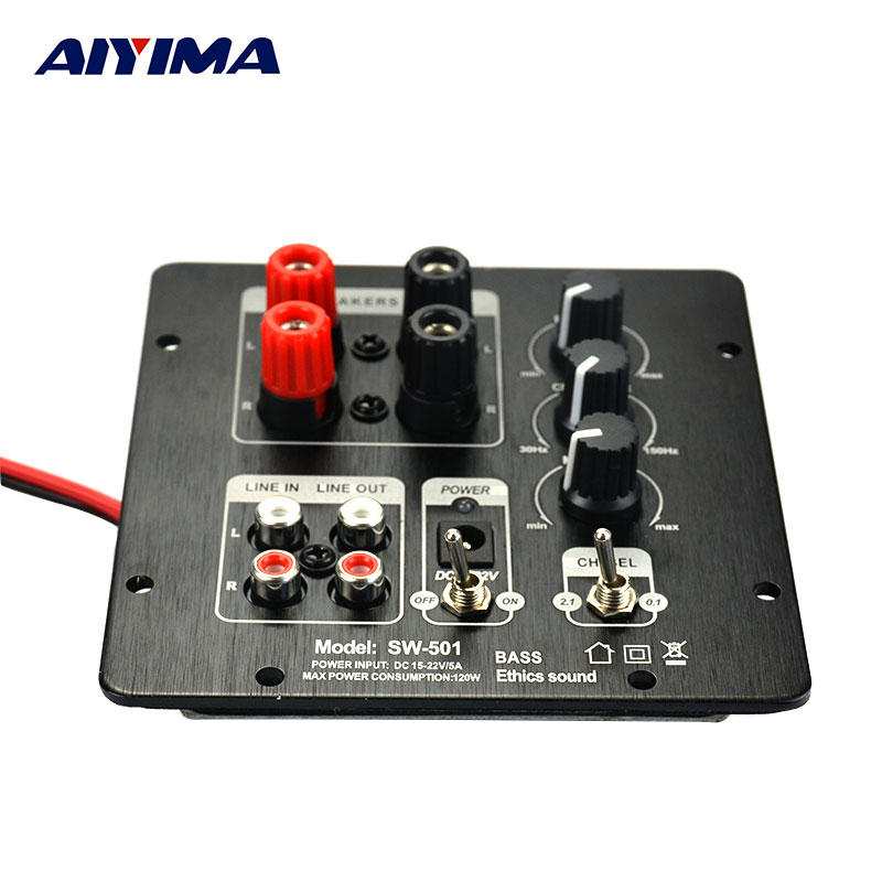 AIYIMA 2.1 Subwoofer Digital SMD Integrated Amplifier Board Independen 2.0 Channel Output Regionalisasi Penguat Fungsional