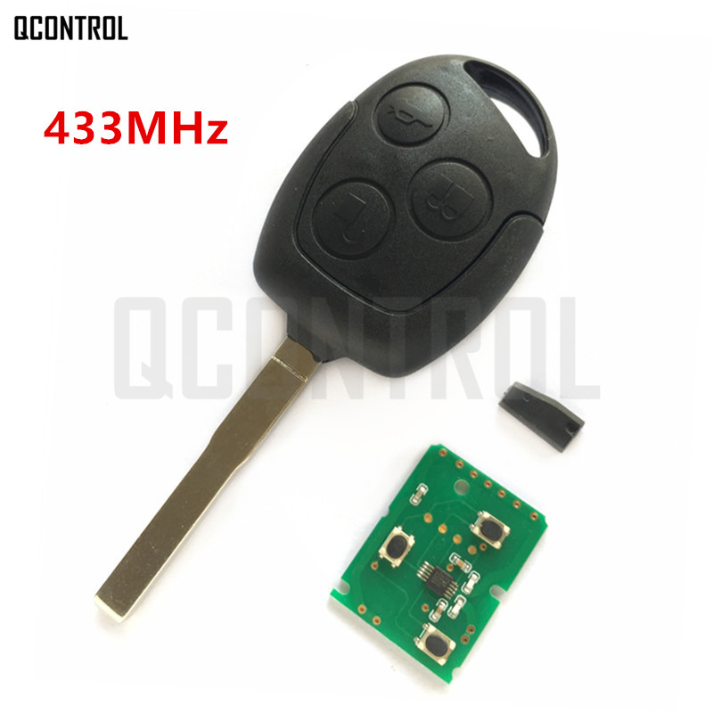 QCONTROL Car Remote Key DIY for Ford Fusion Focus Mondeo Fiesta Galaxy HU101 Blade