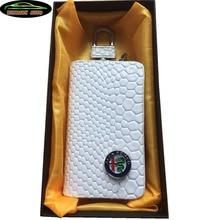 KUNBABY чехол из змеиной кожи для автомобильных ключей, чехол для ключей, кошелек для ключей для Alfa Romeo