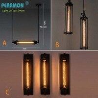 Loft Vintage Wall Lamps American Industrial Wall Light Edison Light E27 Bedside Wall Fixtures Pendant Lamp
