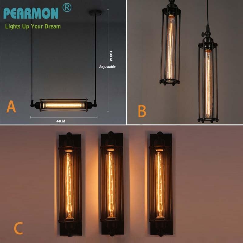 Loft Annata Applique Da Parete Lampade Da Parete Industriale Americana Edison Infissi lampada a Sospensione Luce E27 lampada Da Parete Comodino lampada decorazione della Casa