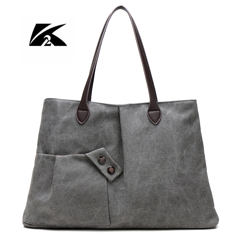 KVKY 2017 Women Canvas Bag New Woman Shoulder Bags For Woman Handbags Stroller Bag Travel Casual Large Tote Bolsa Feminina WH232