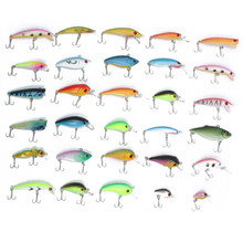 Best Price Bobing 30pcs/lot Fishing Lure  Assorted Minnow Salmon Trout Hard Plastic Artificial Fishing Lures Bass Popper Bait Hooks Tackle