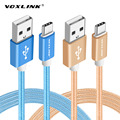 VOXLINK USB Cabo Tipo C Tipo de Nylon-C C USB Cabo Para xiaomi mi4c mi5/oneplus 2/huawei mate 9/p9/meizu pro 5/zuk z1/letv one max