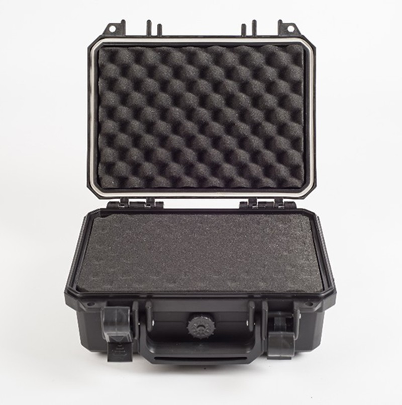 256 * 178 * 105 mm vandeniui atsparaus įrankių dėklo įrankių dėžė. Fotoaparato dėklo lagaminas. Atsparus smūgiams, uždarytas iš anksto supjaustyto putplasčio pamušalu, nemokamas pristatymas