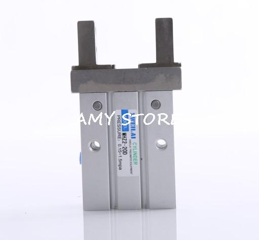 SMC type Pneumatic Parallel Gripper Double Acting MHZ2-25D Cylinder Finger high quality double acting pneumatic gripper mhy2 20d smc type 180 degree angular style air cylinder aluminium clamps