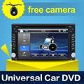 Radio de Coche Universal Doble 2 din Car DVD Player GPS Mapa de navegación En el tablero PC Del Coche Estéreo de vídeo + Cámara + Parking Gratuito Sensor