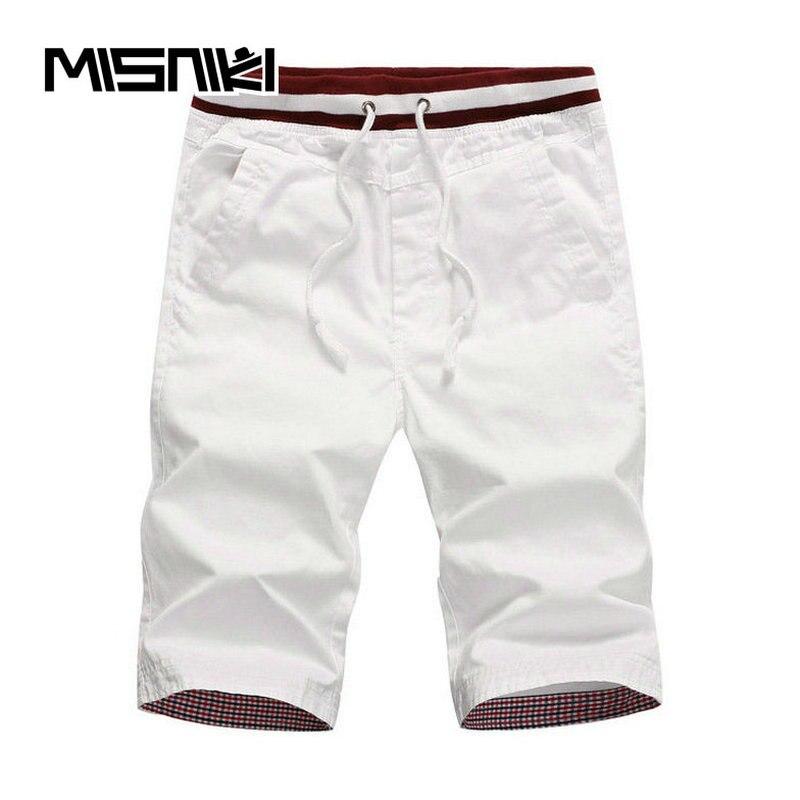 MISNIKI 2018 Summer Casual Shorts Men Cotton Straight Mens Shorts Solid Slim Cool Beach Shorts For Men Shorts Homens