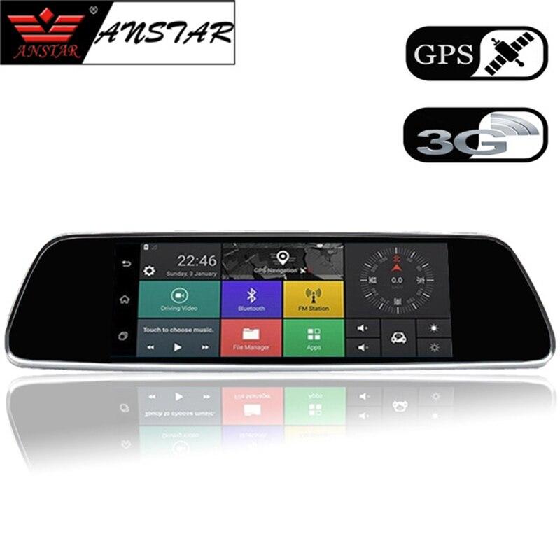 """ANSTAR 7 """"3g Видеорегистраторы для автомобилей видео зеркало Android gps FHD 1080 P Автомобильные видеорегистраторы Bluetooth WI-FI автомобиля Камера видео регистраторы Регистратор"""