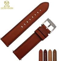 Italian cowhide watch bracelet Retro Genuine leather watch strap 18 20 22mm wristwatches band watch belt quick release bar