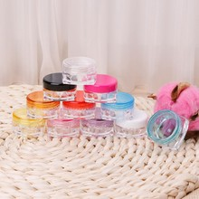 10Pcs Small Transparent Cream Bottle 5g Cosmetic Box Makeup Jar Eyeshadow Case(China)