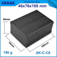 10pcs/lot black anodizing aluminium extrusion enclosure instrument junction case box 46*76*100mm