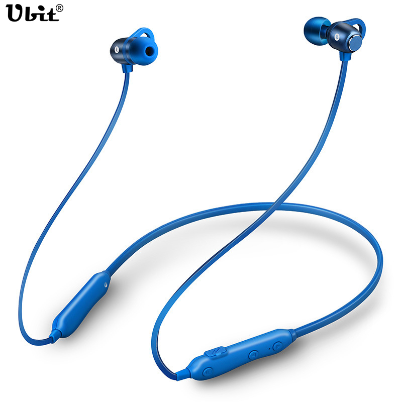 цена на Ubit New Wireless Sport Earphones Bluetooth CSR4.1 Earset Ear-hanging Neckband Stereo HiFi Music Earplug For Iphone Android