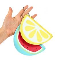 süße Stil Frauen Leder Geldbörse Obst Wassermelone Form Münze Geldbörse PU Mädchen kleine Handtasche Cartoon Key Bank Kartenhalter
