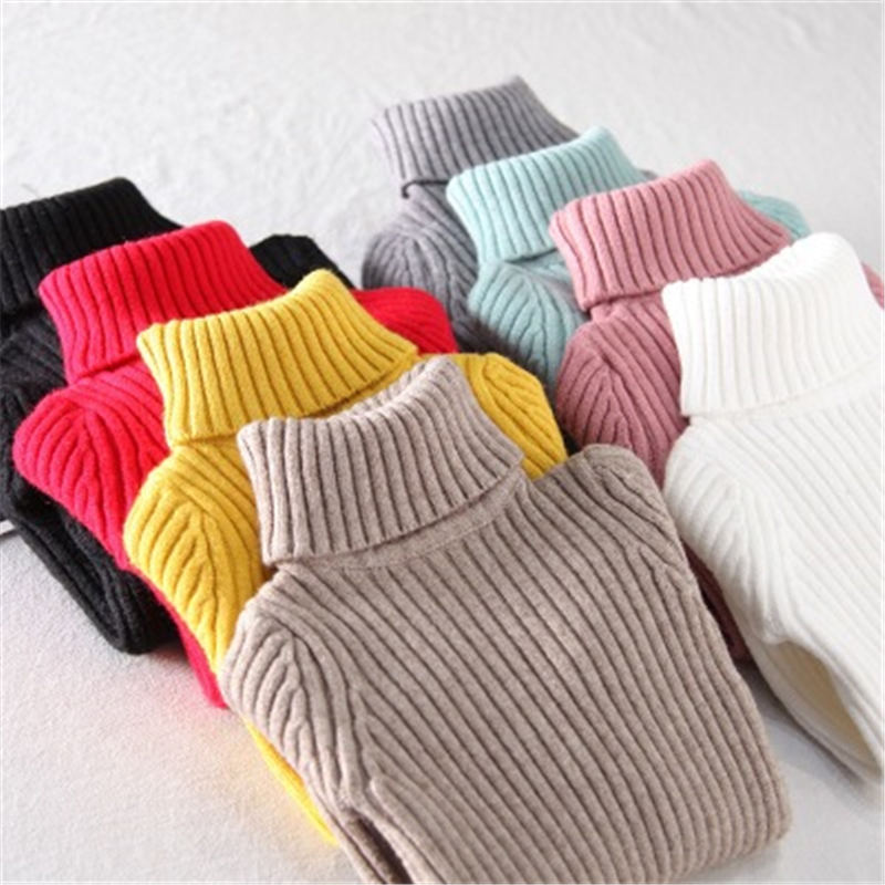 MQ Baby Girl Sweater Children Colthes 2018 Autumn Winter Girls Children Clothing Pullover Turtleneck Knitted Solid Kids Sweaters autumn winter children turtleneck kids sweaters 10 solid colors girls sweater boys pullover basic shirt 2 10 years