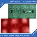320*160mm 32*16 píxeles de alto brillo Semi-al Aire Libre P10 LLEVÓ el módulo de Un Solo color Rojo LED display Scrolling mensaje muestra llevada