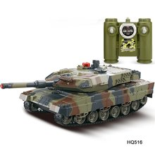 Battle Tank 1/24 Scale German Leopard A6 Infrared Fighting RC Battle Tank with Sound and Lights Wireless RC Tank Toys(China)