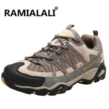 Ramialali Men Hiking Shoes Breathable Outdoor Hiking Boots Sports Sneakers Mesh Mountain Trekking Shoes Climbing Sneakers