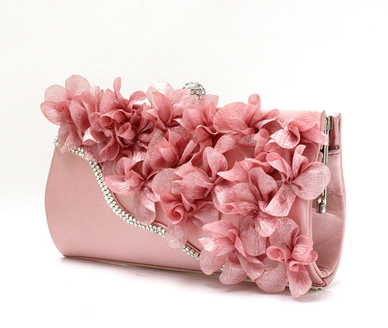 New Fashion Women Multicolor Evening Bag/ Lace Three-Dimensional Flowers Elegant Bride Clutch Pouch/ Chain Messenger Tote Bags qicai yanzi 2017 new lunch bags pouch storage box flowers insulated thermal cooler bag picnic tote bolsa termica lancheira n563
