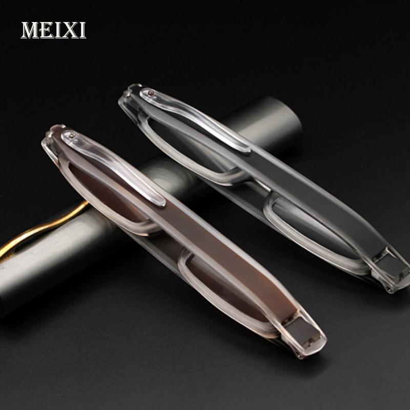 360 Deg . Rotating Portable Pen Reading Glasses Folding Old Light Mirror Women Men Eyewear+1.0, +1.5,+2.0,+2.5,+3.0,+3.5,+4.0