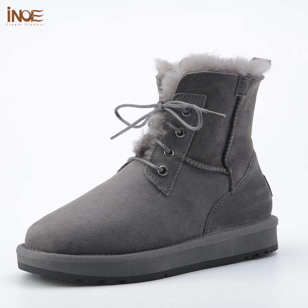 new style fashion genuine sheepskin leather fur lined men ankle winter snow boots for man lace up casual winter shoes Black roxdia new fashion genuine leather winter men ankle boots man warm snow boot fur work lace up shoes plus size 39 44 rxm474