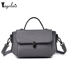 Woman PU Vintage Solid Crossbody Casual Flap Bag Famous Designer Fashion  Brand England Style Women handbag d43db00fe0cd2