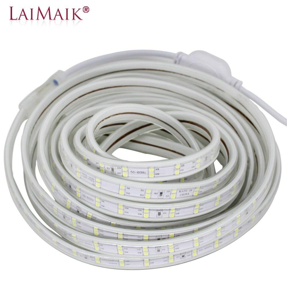 LED Luz de Tira 120 leds/m Dupla Linha 220 v 240 v led strip 5050 warm white/branco /roxo levou fita luz 1 m 50 20 15 10 5 m m m m m 100 m