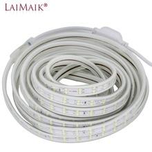 LED Strip Light 120leds/m Double Row 220V 240V led strip 5050 warm white/white/purple tape light 1m 5m 10m 15m 20m 50m 100m