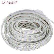 все цены на LED Strip Light 120leds/m Double Row 220V 240V led strip 5050 warm white/white/purple led tape light 1m 5m 10m 15m 20m 50m 100m онлайн