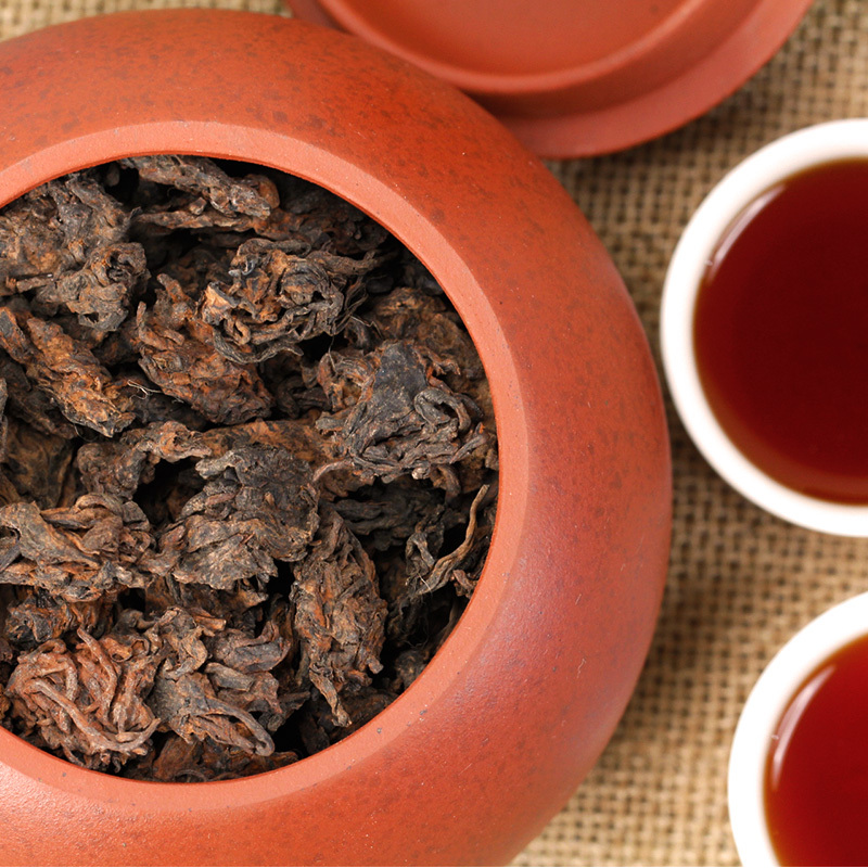 Yunnan Menghai tea Sigong 2003 laochatou Acura old head mellow ripe 200g Yixin Storage Gift  -  China's Tea Outlet Store store