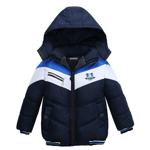 Image 2 - 아동 코트 2020 소년 자켓 가을 코트 아동 겉옷 겨울 가을 긴팔 따뜻한 후드 코트 1 2 3 4 5 years Boys