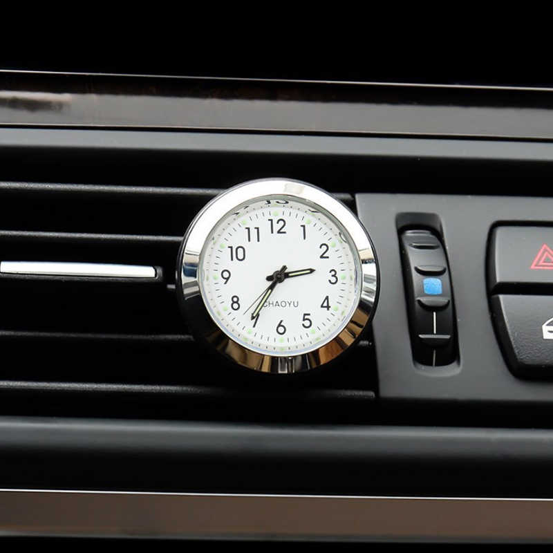 2 in 1 function Car Ornament Air Freshener Interior Decoration Luminous Clock Auto Watch Automotive Vents Clip Car Watch Clock