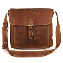 Travel Messenger Brown Vintage Bags Men Ipad Business Large Capacity Weekend Shoulder Crossbody Leather