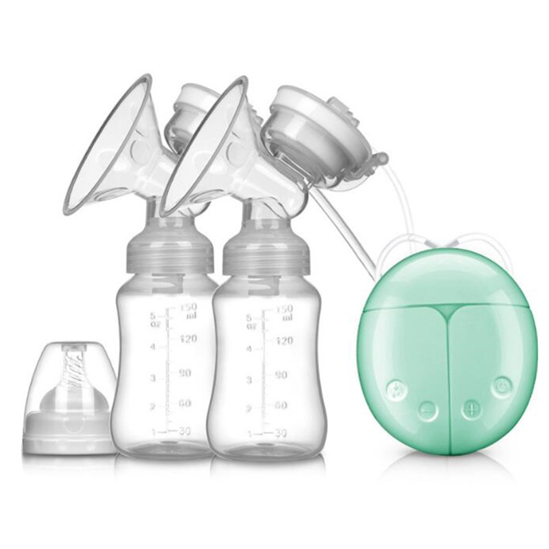 2018 Double Electric Breast Pump With Milk Bottle Infant USB BPA Free Powerful Breast Pumps Baby Breast Feeding Drop Shipping