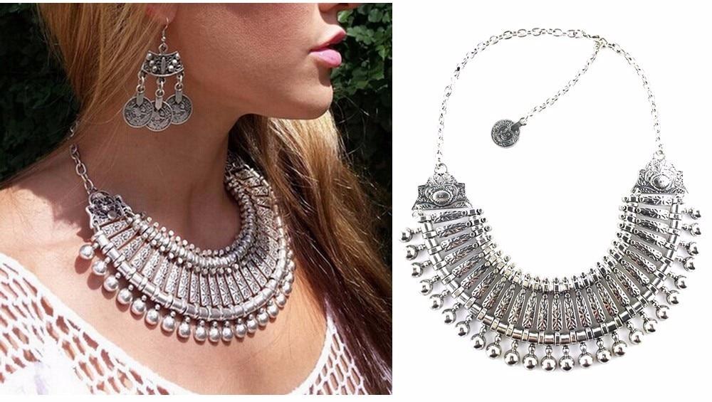 Ztech 18 Women Necklaces & Pendants Vintage Crystal Maxi Choker Statement Collier Femme Boho Big Fashion Jewellery Wholesale 12