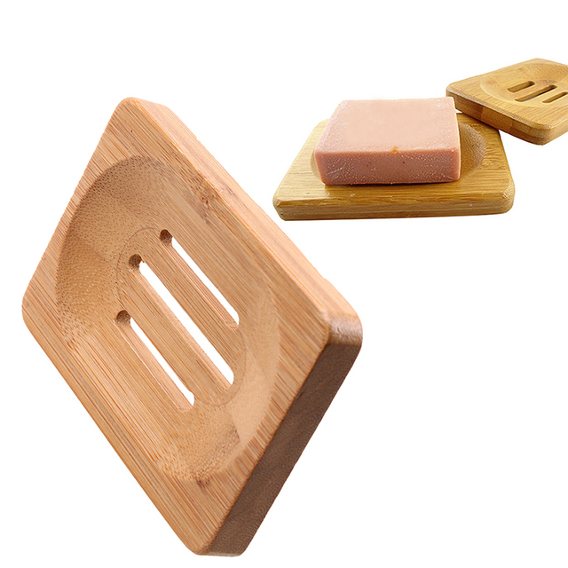 1 stcke bambus holz seifenschale reinigung produkte tray halter dusche seife lagerregal container badezimmer kche liefert - Duschen Im Garten Mit Seife