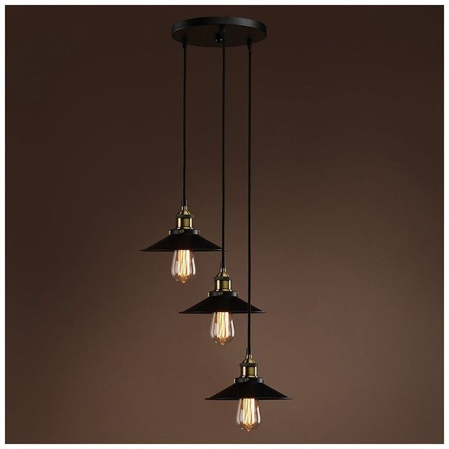 Retractable Hanging Light Vintage Loft Industrial Pendant Lights ...