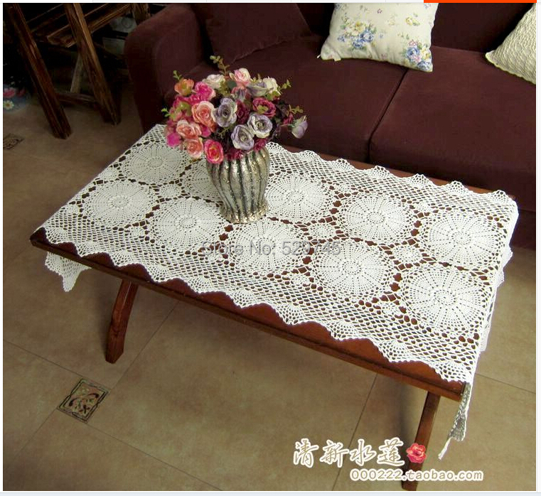 Furniture Doilies #1 - Furniture Doilies. Share To: Aliexpress.com : Buy New Handmade Crochet Lace  Flowers White Rectangular Table Runner Woven Tablecloths