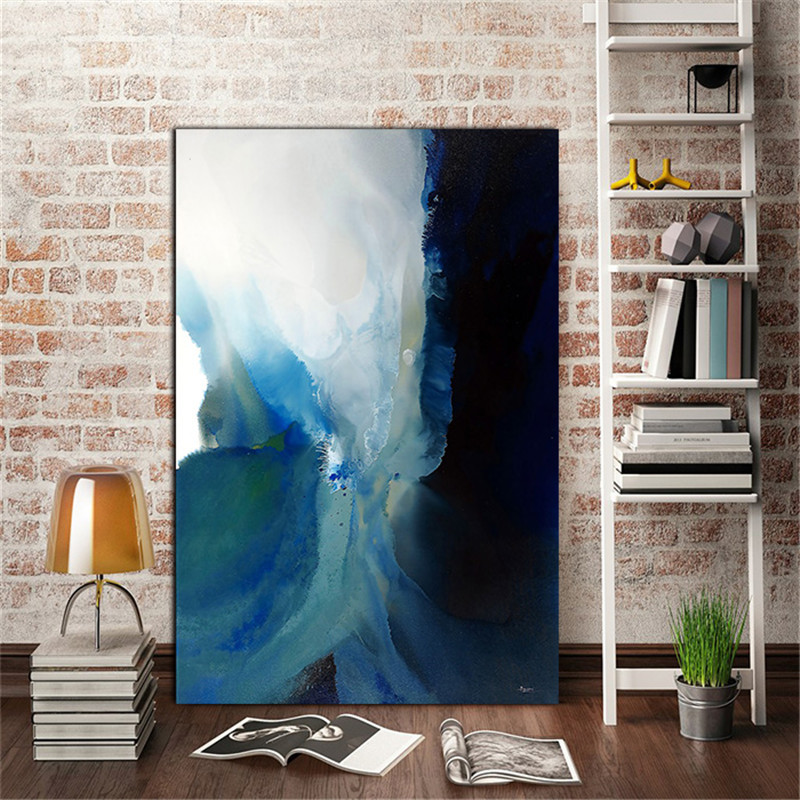 YongHe Home Decorative Canvas Printings Art Works Abstract Colors Separate Custom Sizes Oil Paintings For Decorate Living Room