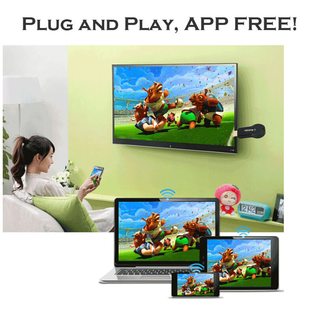 US $11 99 |Miradisplay WIFI Display Dongle , fit iOS Android Chromecast  EasyCast ezCast DLNA Airplay Miracast Media Player HDMI 1080P HD TV في