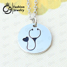 Nurse Heart Stethoscope Pendant Necklace Christmas Vet Graduation gift Jewelry  #LN1303