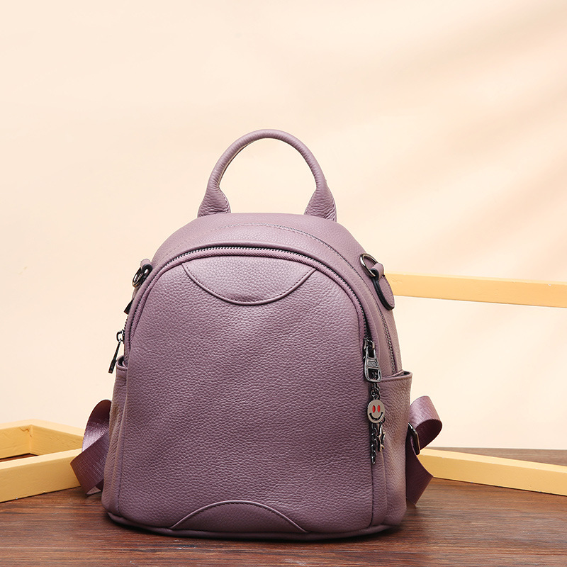 ff878f843e84 Buy purple leather backpack and get free shipping on AliExpress.com