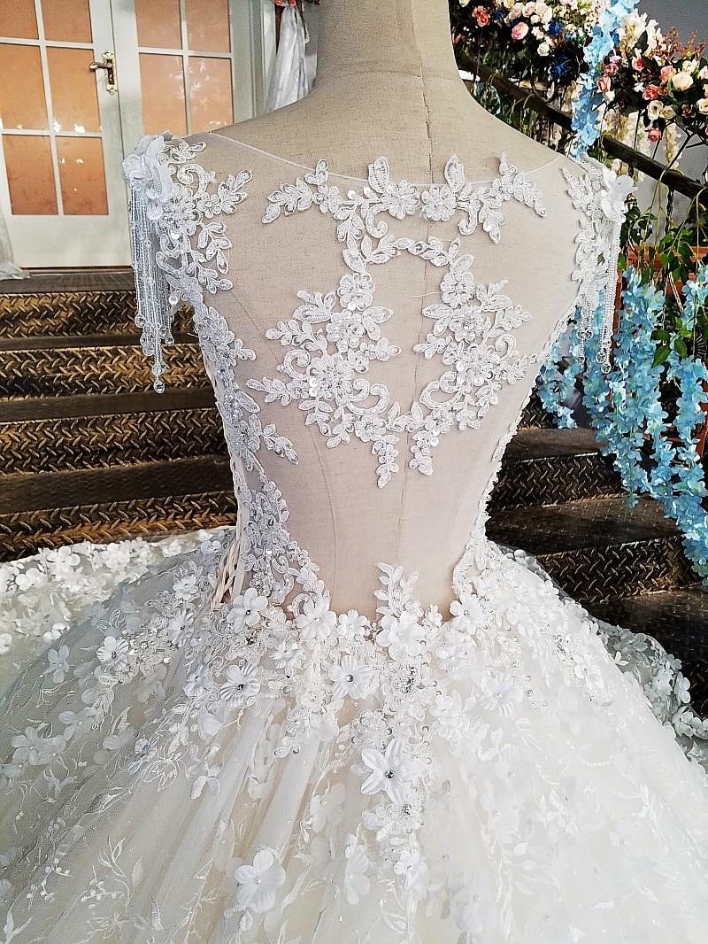 LS00174 Πολυτελές νυφικό για νυφικό beaded - Γαμήλια φορέματα - Φωτογραφία 5