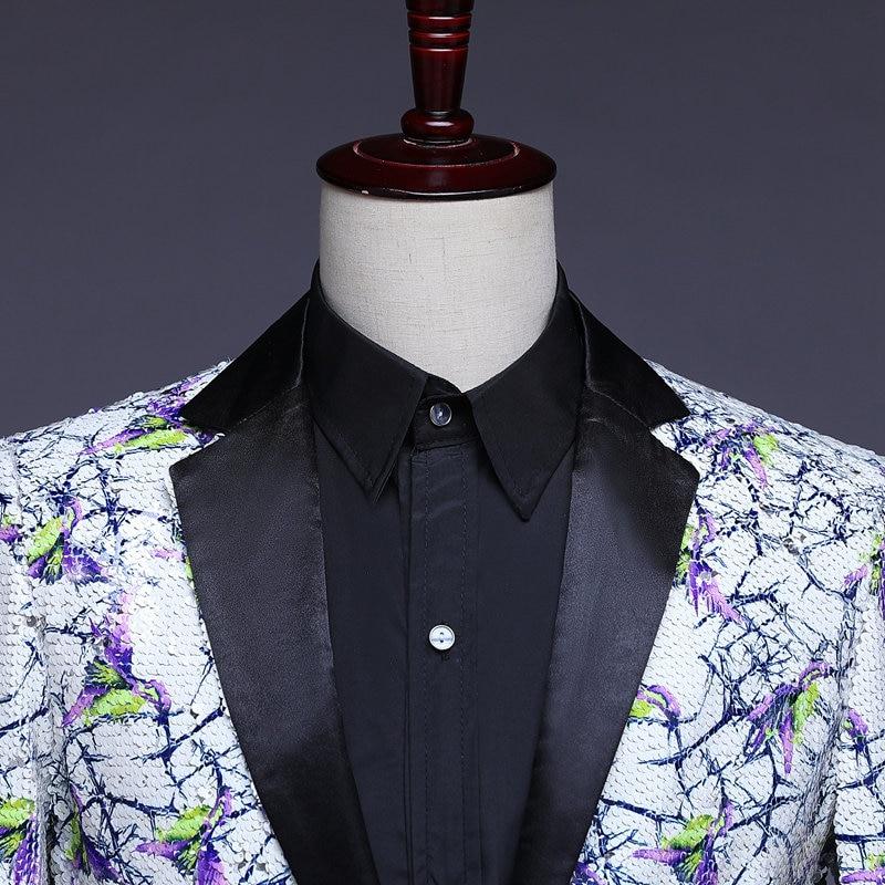Stilvolle Herren Glitter Blazer Männer Pailletten Blazer Heren Colberts Americana Hombre Bling Anzug Männer Jacke Blazer Steampunk Homme - 4