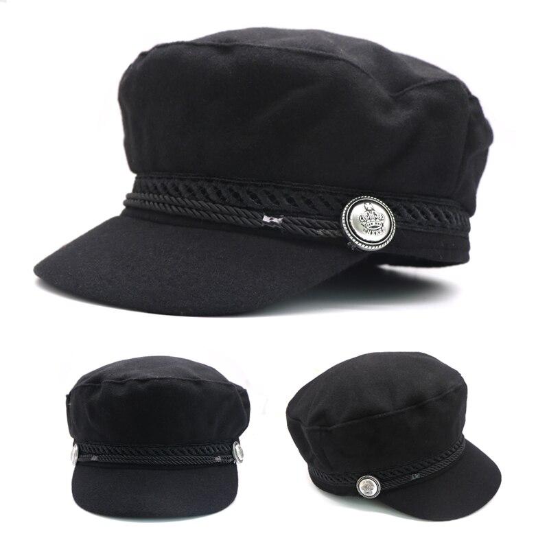 1 Stücke Frauen Baseball Hut Herbst Und Winter Vintage Casual Casquette Cap Für Frauen Mädchen England Stil Flache Kappe Frauen Gorros